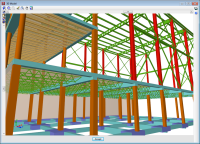 CYPECAD. 3D Views of joists open-web joists